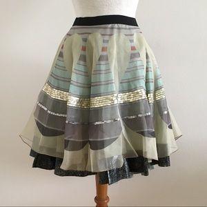 NWT Rozae Nichols Clover Canyon Silk Skirt